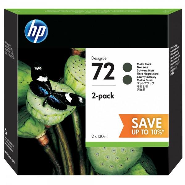 ORIGINAL HP Multipack Schwarz (matt) P2V33A 72 2 Tintenpatronen HP 72: C9403A á 130 ml