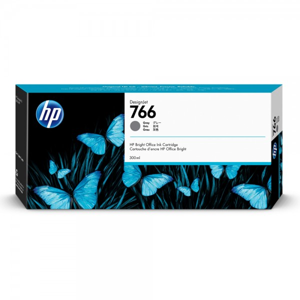 ORIGINAL HP Tintenpatrone Grey P2V93A 766 300ml