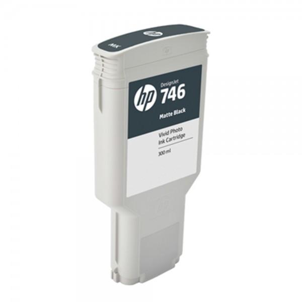 ORIGINAL HP Tintenpatrone Schwarz (Matt) P2V83A 746 300ml