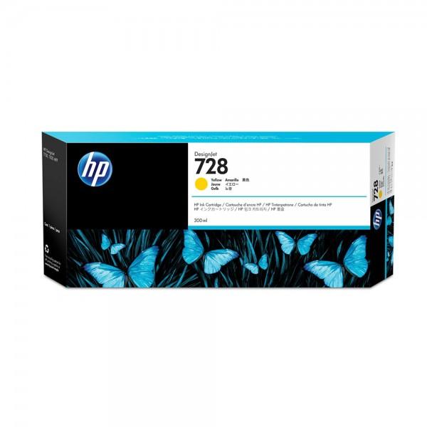 ORIGINAL HP Tintenpatrone Gelb F9K15A 728 300ml