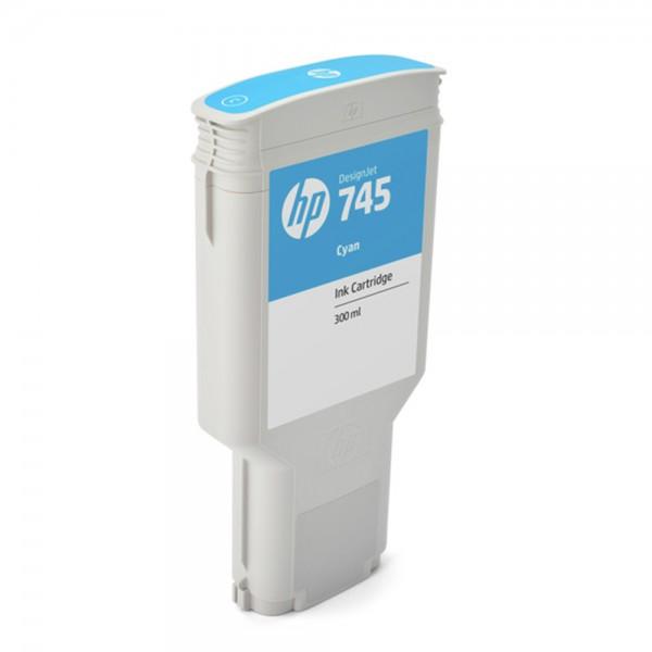 ORIGINAL HP Tintenpatrone Cyan F9K03A 745 300ml