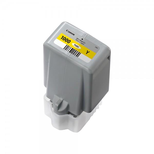ORIGINAL Canon Tintenpatrone Gelb PFI-1000y 0549C001 80ml