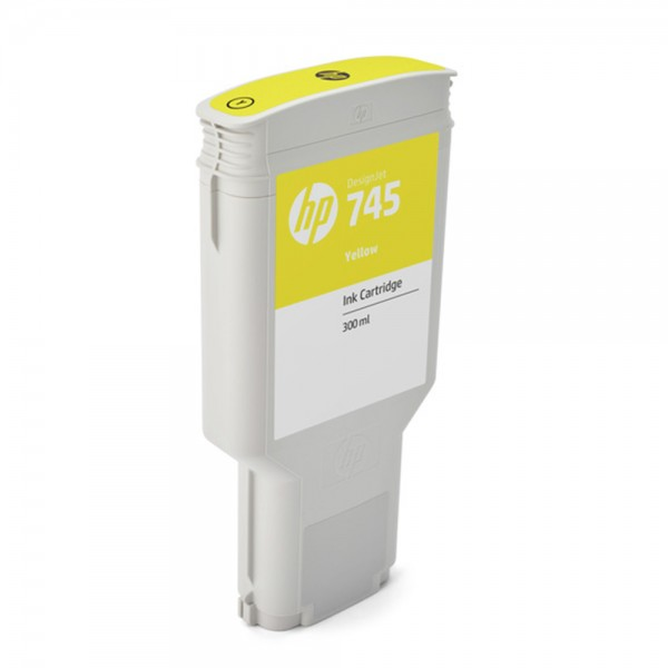 ORIGINAL HP Tintenpatrone Gelb F9K02A 745 300ml