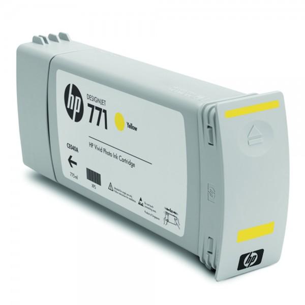 ORIGINAL HP Tintenpatrone gelb B6Y10A 771C 775ml