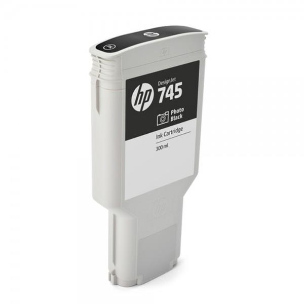 ORIGINAL HP Tintenpatrone Schwarz (Foto) F9K04A 745 300ml