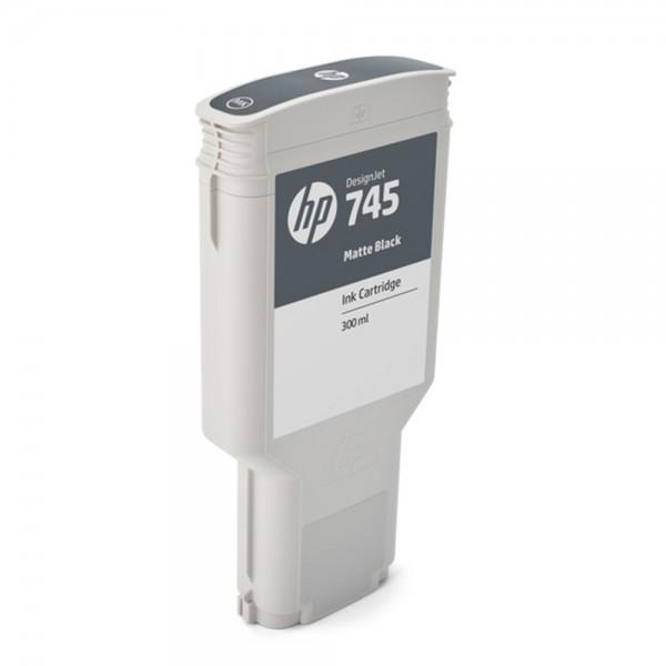 ORIGINAL HP Tintenpatrone Schwarz (matt) F9K05A 745 300ml