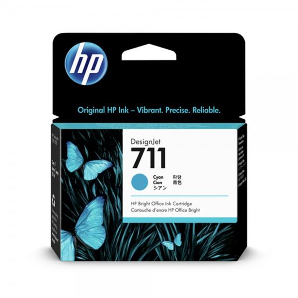 ORIGINAL HP Tintenpatrone cyan CZ130A 711 29ml