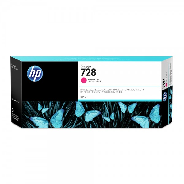 ORIGINAL HP Tintenpatrone Magenta F9K16A 728 300ml