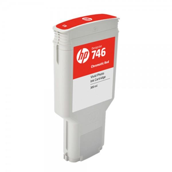 ORIGINAL HP Tintenpatrone Chromatic Red P2V81A 746 300ml
